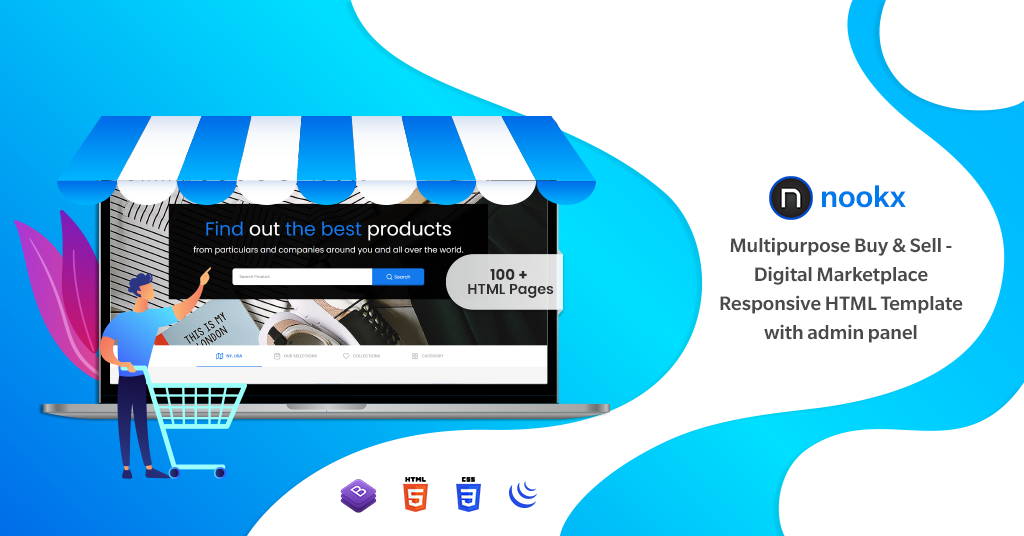 Digital Marketplace Responsive HTML Template