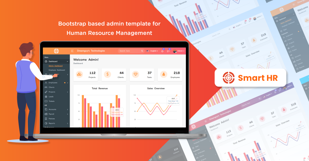 THE BEST MULTIPURPOSE HR ADMIN DASHBOARD TEMPLATE